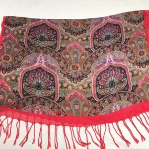 Beautiful paisley scarf with many beautiful colors